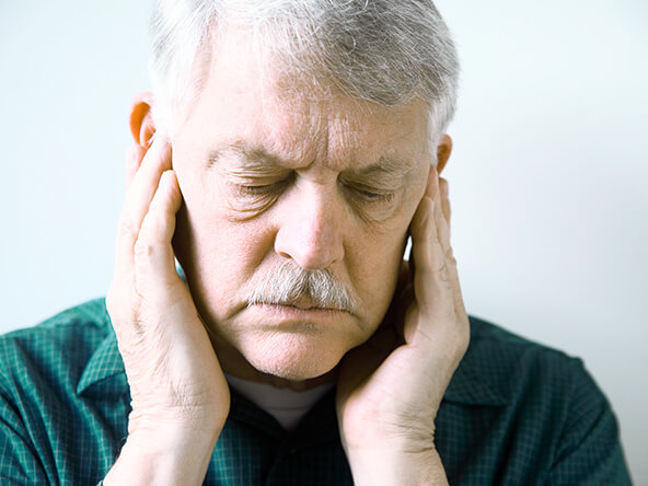 The Smile Workx - Dental Services - TMJ Sleep Apnoea Treatments Old Man Covering His Ears